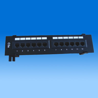 ZH-PP01 CAT5E 12 PORTS UTP PATCH PANEL