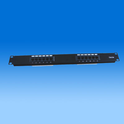 ZH-PP02 CAT5E 12 PORTS UTP PATCH PANEL