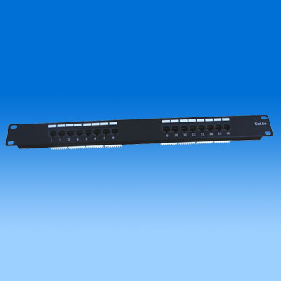 ZH-PP03 CAT5E 16 PORTS UTP PATCH PANEL