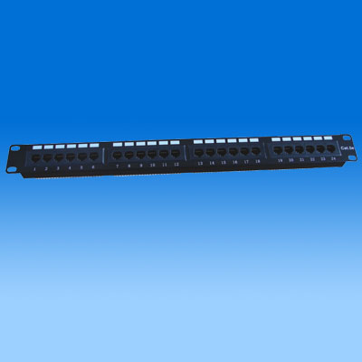ZH-PP05 CAT5E 24 PORTS UTP PATCH PANEL